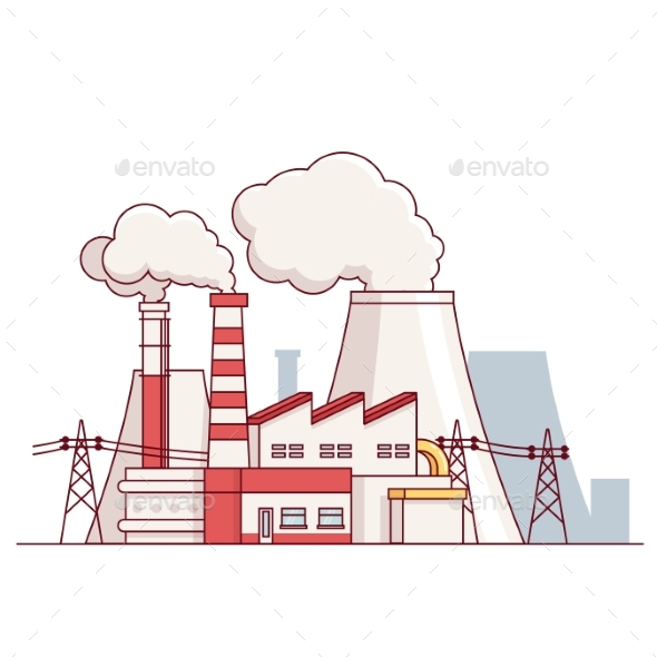 Electrical Power Production Plant - Buildings Objects