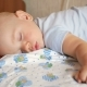 Beautiful Baby Sleeping in Funny Pose on a Bed. Under the Baby Diaper, the Boy About a Year - VideoHive Item for Sale
