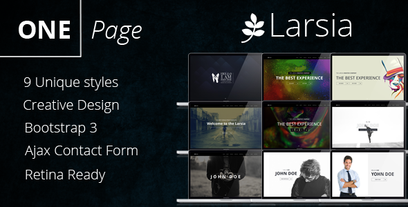 Larsia Gold – OnePage Personal & Resume Template