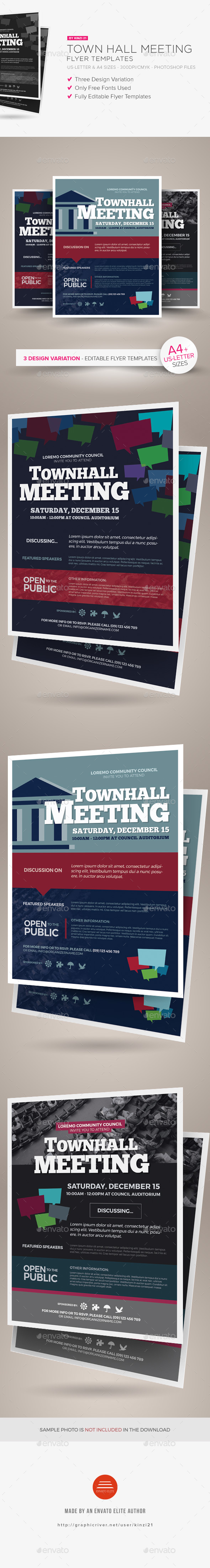 Town Hall Meeting Flyer Templates - Corporate Flyers