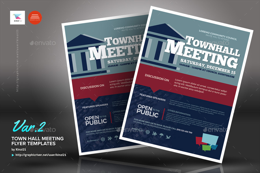 town hall meeting flyer templates by kinzi21 graphicriver