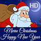 Christmas and New Year Animated Card In Different Languages Set - VideoHive Item for Sale