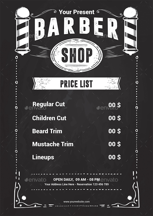 Barber Shop Flyer Template by Yudha_SBS | GraphicRiver