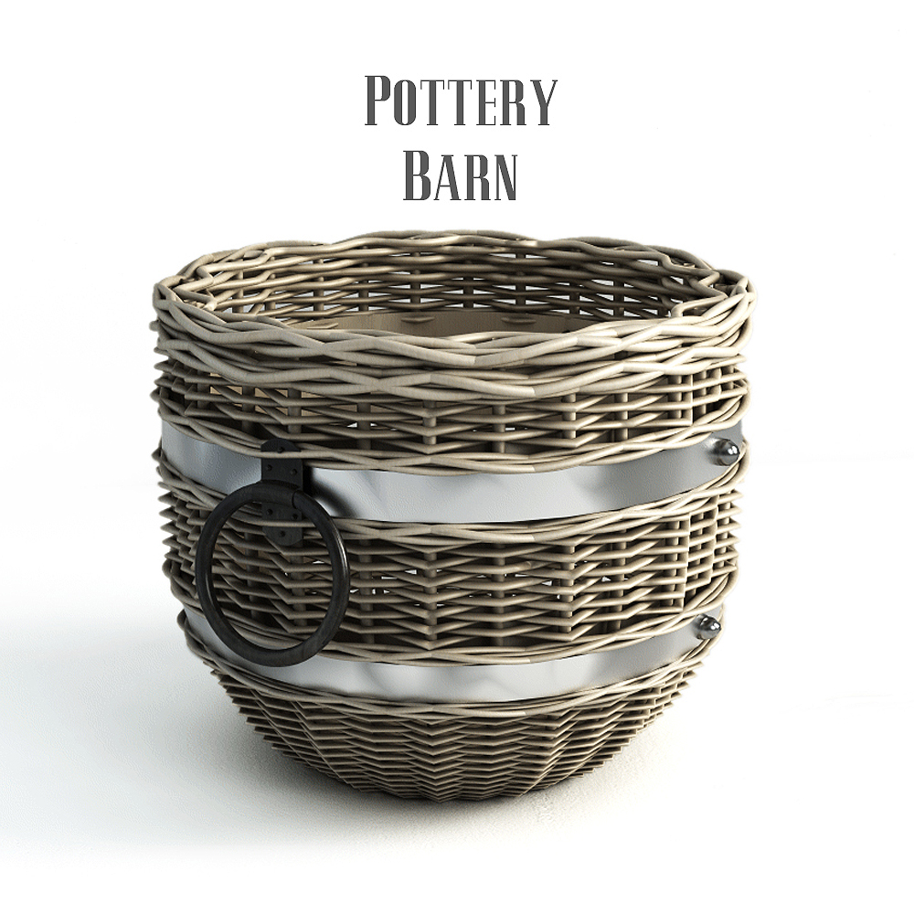 Pottery barn, Cask Round Basket.