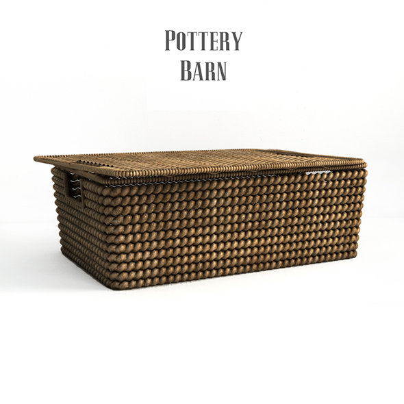 Pottery barn, Woven havana basket. - 3DOcean Item for Sale