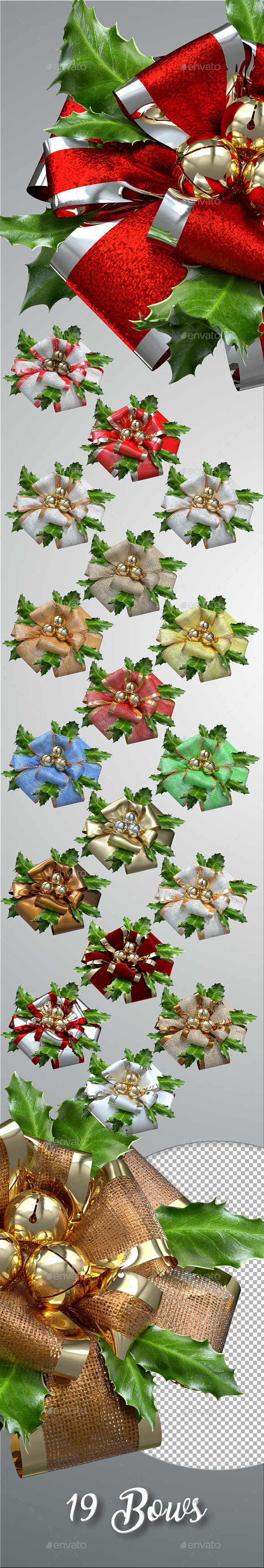 Christmas & Wedding Bows - Miscellaneous 3D Renders