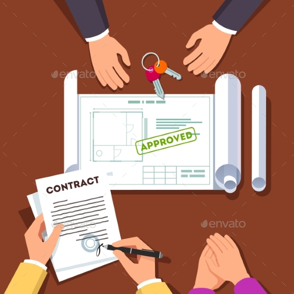 Hands Signing House or Apartment Contract - Industries Business