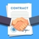 Business Man Shaking Hands Over a Signed Contract - GraphicRiver Item for Sale