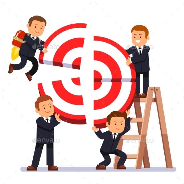 Businessman Team Building Aim - Concepts Business
