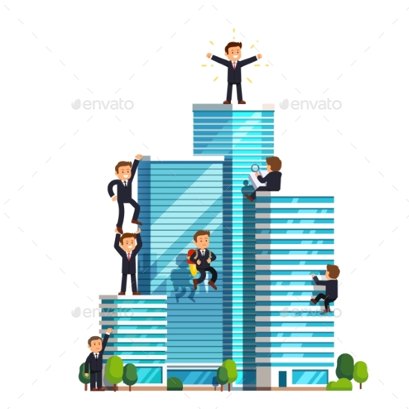 Business Competition in Achieving Success - Buildings Objects