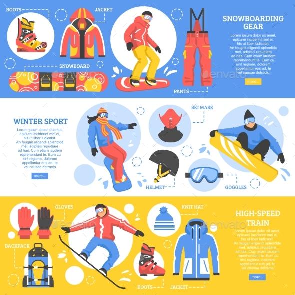 Snowboarding Horizontal Banners - Sports/Activity Conceptual
