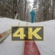 Concept Winter Healthy Lifstyle. Cross Country Skiing on Snowy Winter Day. POV - VideoHive Item for Sale