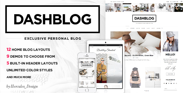 Dash - Simple and Clean Personal WordPress Blog Theme by Hercules_Design