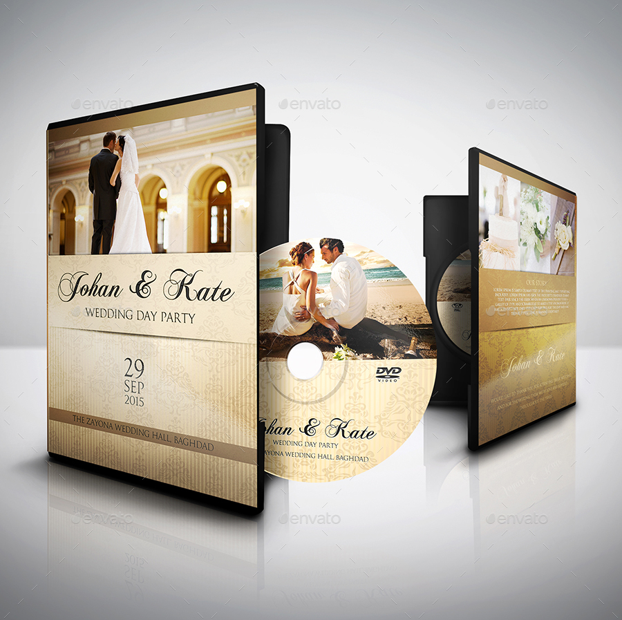 Wedding Dvd Cover And Label Template Bundle Vol1 By Owpictures