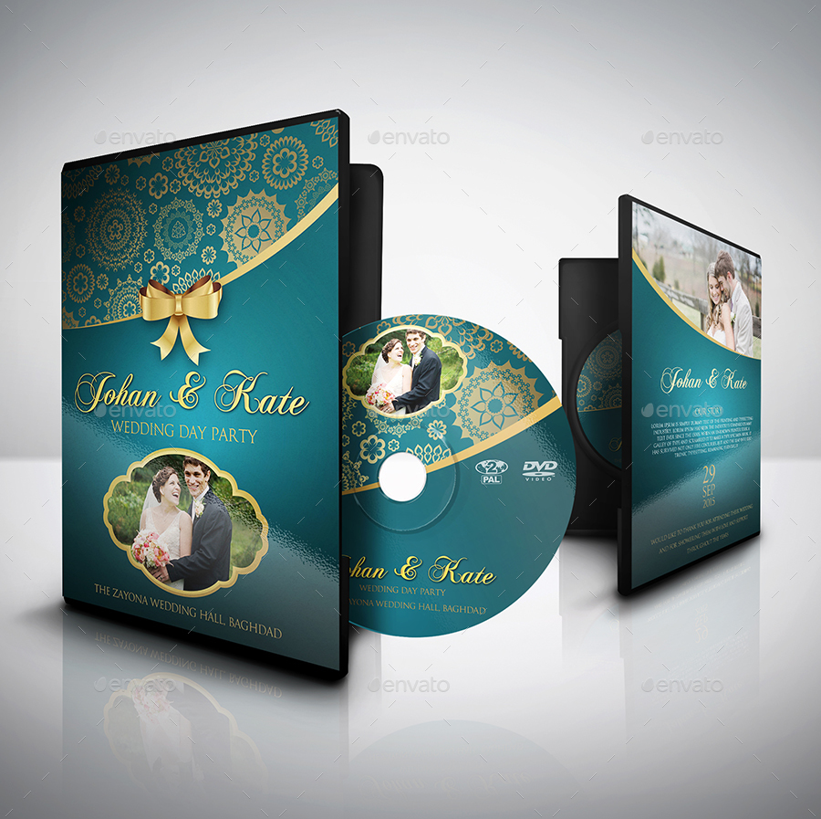 Wedding DVD Cover and Label Template Bundle Vol.1 by ...