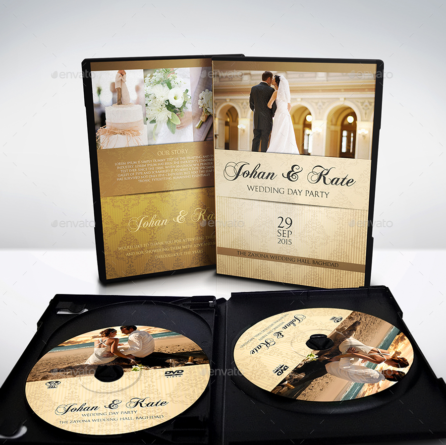 Wedding DVD Cover and Label Template Bundle Vol 1