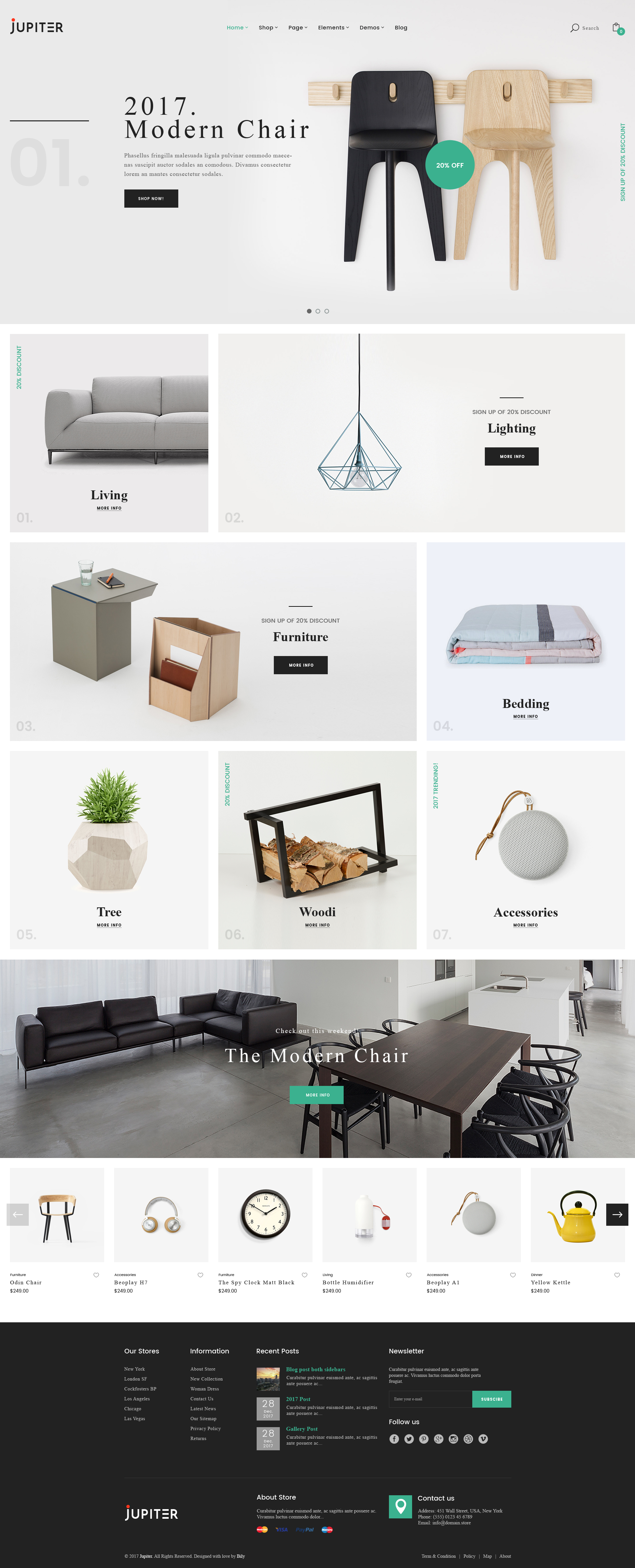Jupiter Furniture eCommerce PSD Template by bily | ThemeForest