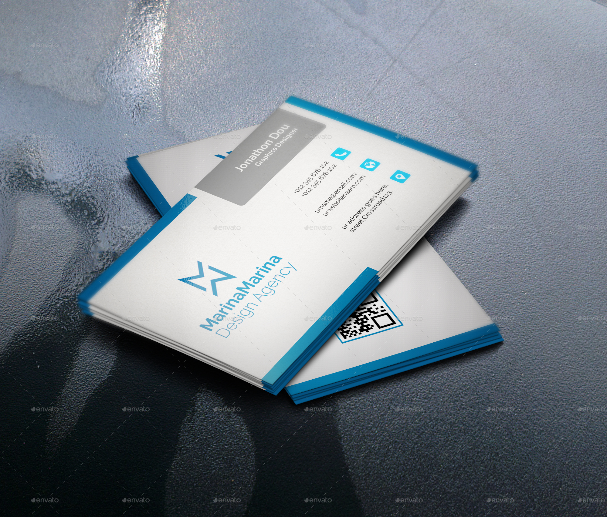 corporate business card by imran molla graphicriver