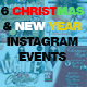 Christmas & New Year Instagram Banner