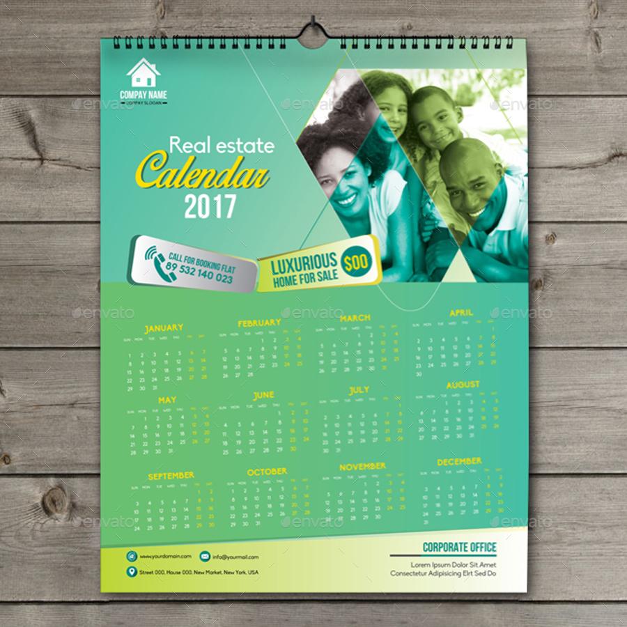 Real Estate Calendar Design : Real estate calendar by design station graphicriver
