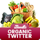 Organic Store, Farm Market, Fresh Food Twitter Header - 10 PSD