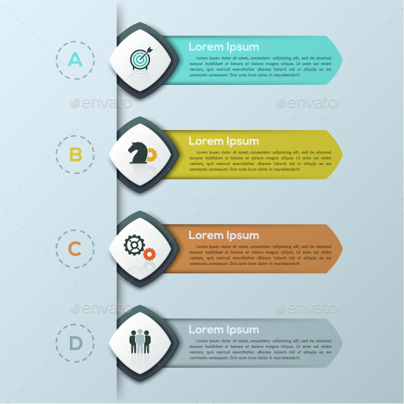 Modern Infographic Arrows Template