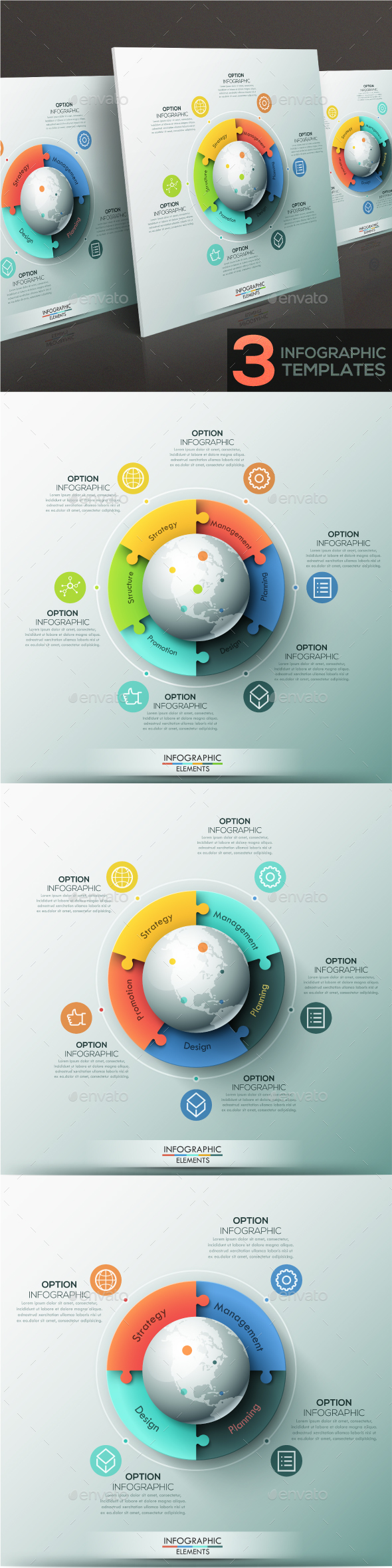 Modern Infographic Global Puzzle Templates (4 Items)3