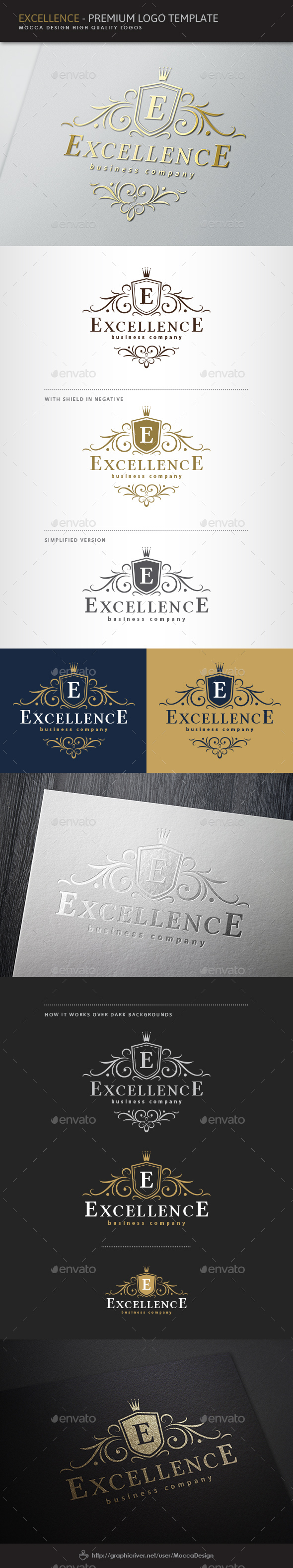 Excellence Logo - Crests Logo Templates