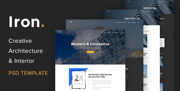 Creative Architecture & Interior PSD Template - Business Corporate