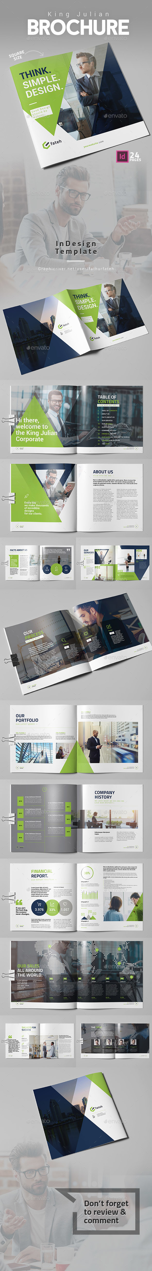 King Julian Brochure - Square - Corporate Brochures