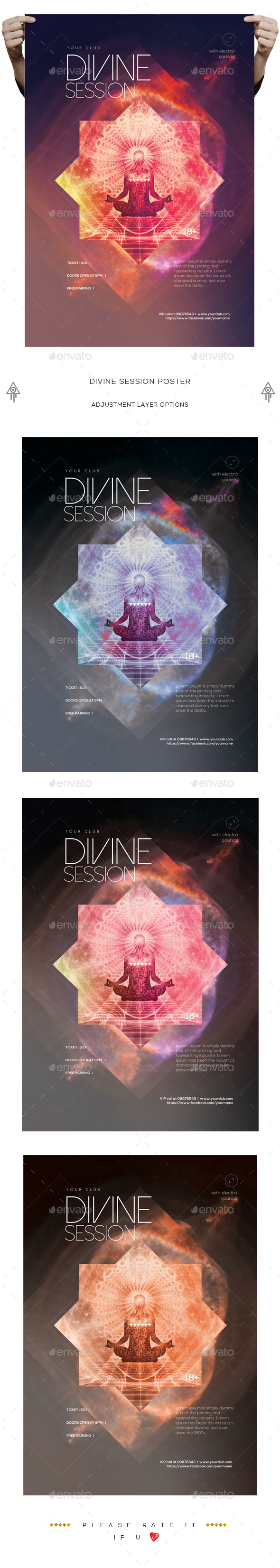 Minimalistic Divine Session Poster - Clubs & Parties Events