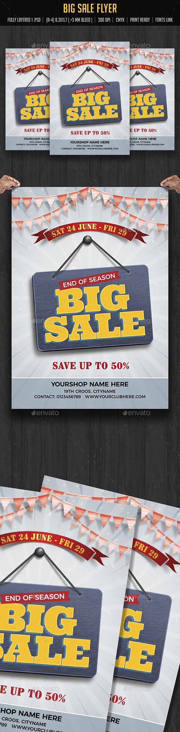 Season Big Sale Flyer - Flyers Print Templates