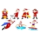 Vector Set for Christmas with Santa Claus. - GraphicRiver Item for Sale
