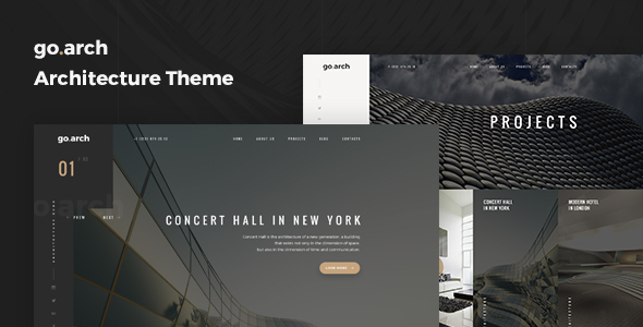 go.arch – Architecture and  Interior WordPress Theme