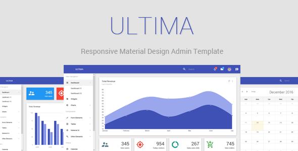 Ultima – Responsive Material Design Admin Dashboard