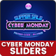 Cyber Monday Sliders - 10 PSD