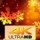 Christmas Gold Snowflakes 1 - VideoHive Item for Sale