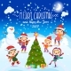 Merry Christmas And Happy New Year. 2017. Winter - GraphicRiver Item for Sale