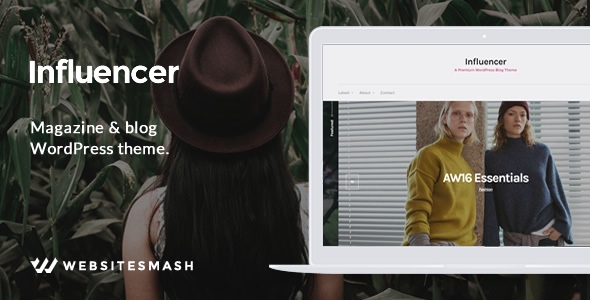 Influencer – Magazine & Blog WordPress Theme