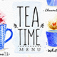 Watercolor Tea Menu - GraphicRiver Item for Sale