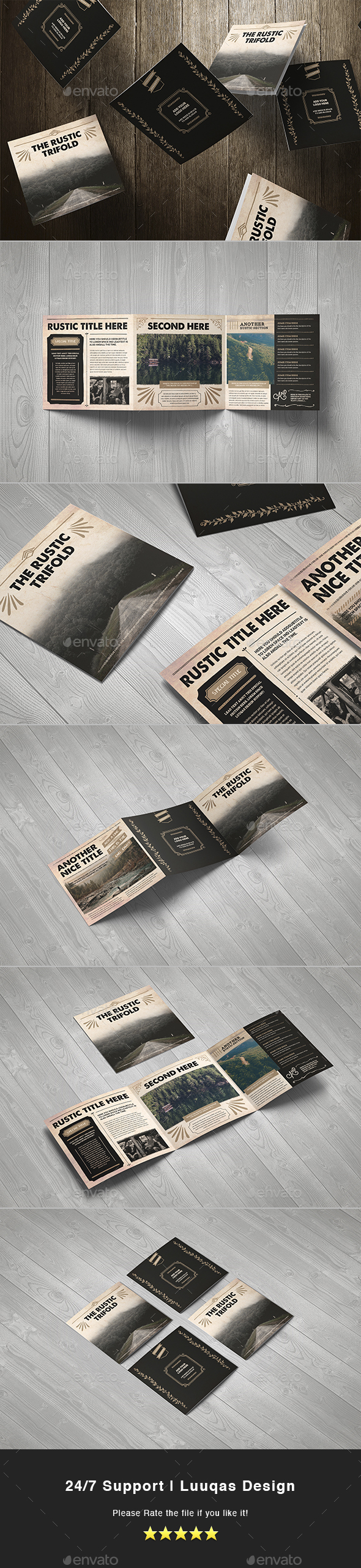 The Rustic Square Brochure - Brochures Print Templates