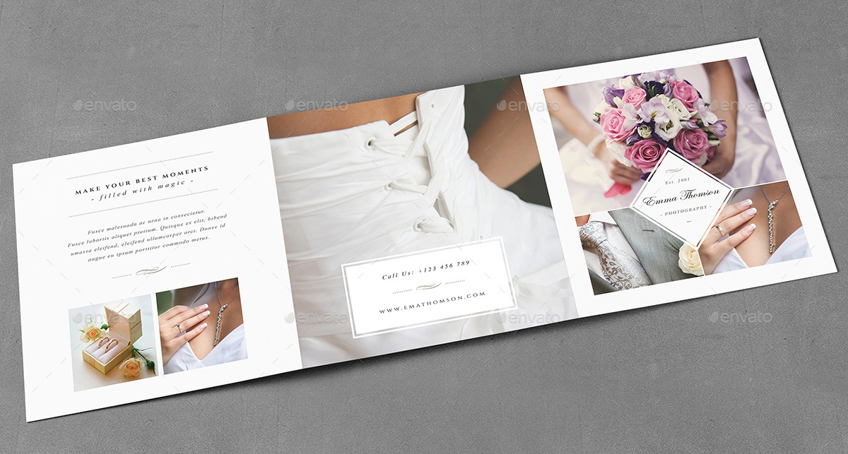 Photography Square Trifold Brochure Template By AgapeZ  Graphicriver