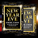 New Year Eve Gold Flyer