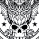 Owl and Skull Tattoo - GraphicRiver Item for Sale