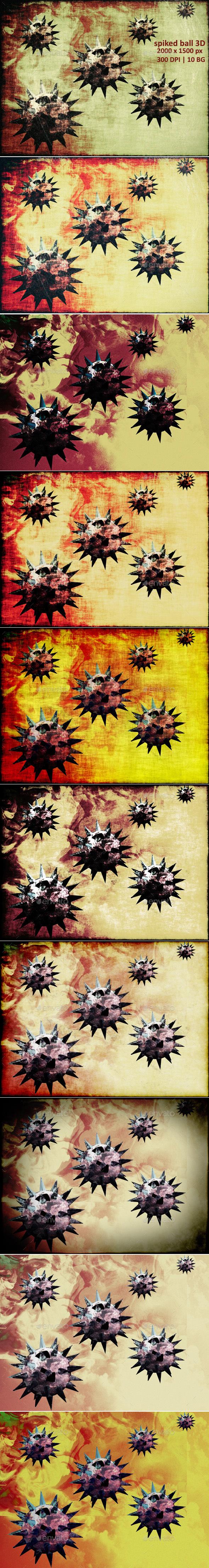 3D Spiked Ball Grung Backgrounds - 3D Backgrounds