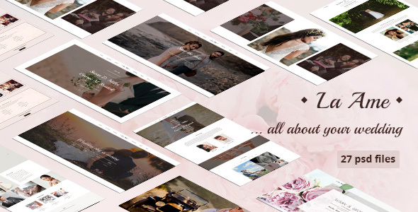 La Ame — Elegant Wedding PSD Template - Entertainment PSD Templates