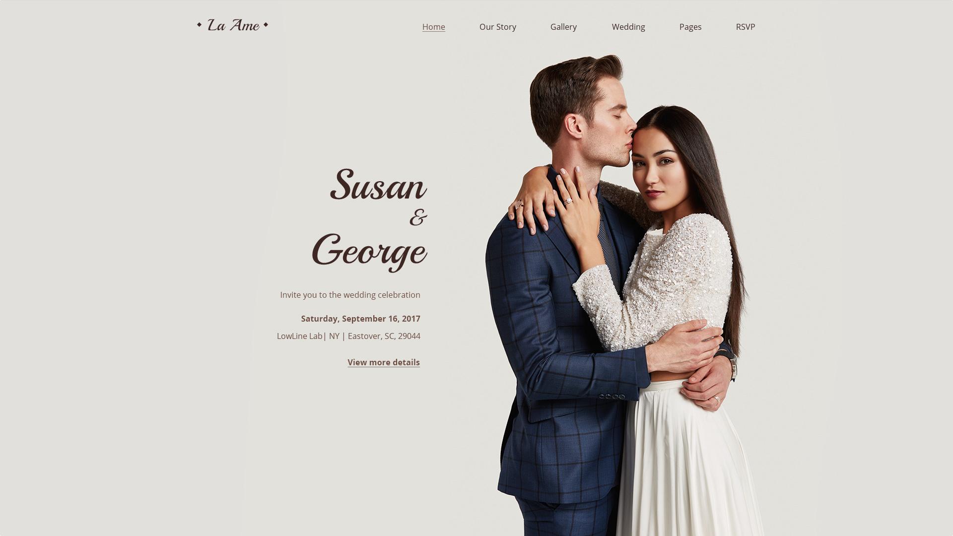 La Ame — Elegant Wedding PSD Template by torbara | ThemeForest