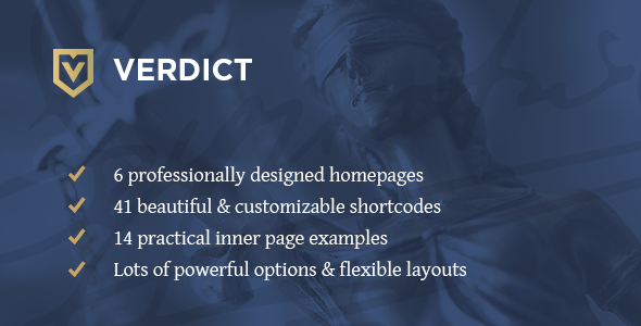Verdict – An Expert Theme for Lawyers, Legal Advisors & Law Firms