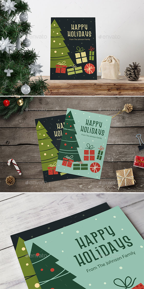 Retro Christmas Card/Background - Christmas Seasons/Holidays