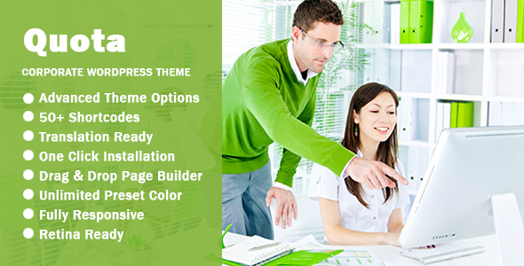 Quota – Business & Corporate Responsive WordPress Theme